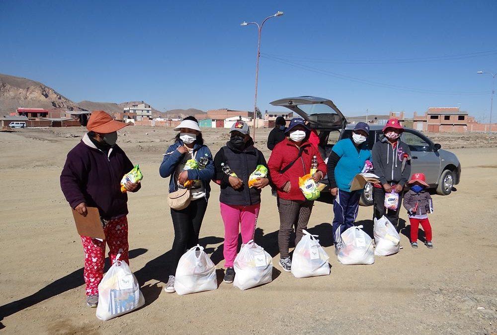 Mi clase virtual en época de coronavirus – entrega de alimentos en Oruro