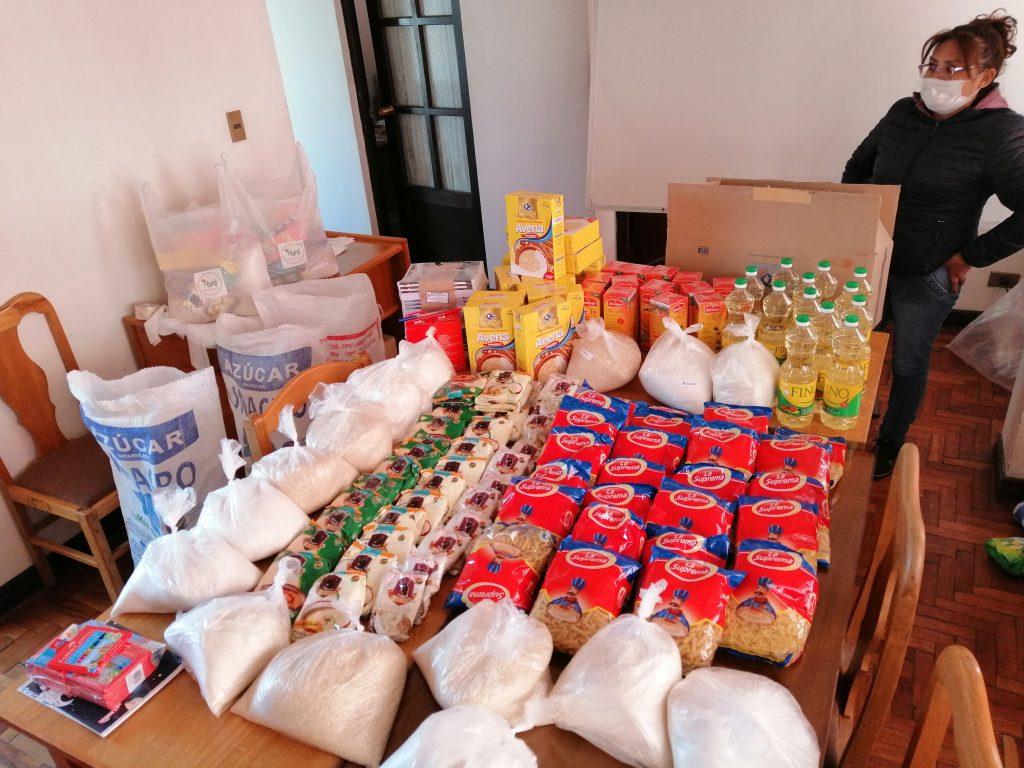 distribuicion de alimentos coronavirus
