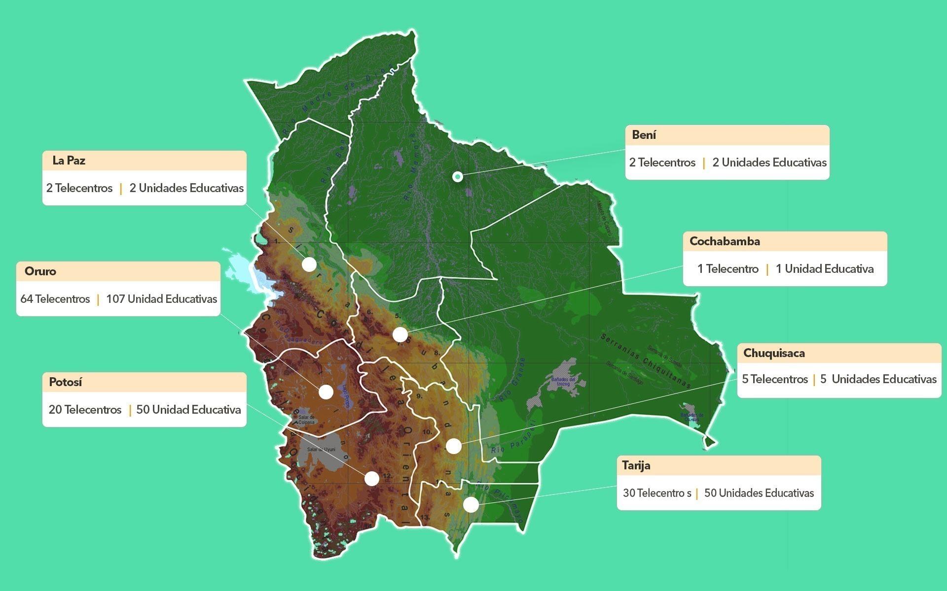 mapa telecentro ayni